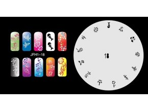 Fengda JFH01-018 (airbrush nail art) körömsablon
