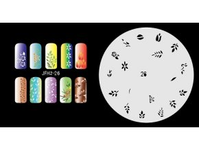 Fengda  JFH02-026 (airbrush nail art) körömsablon