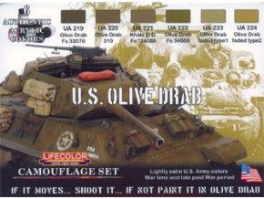 Álcázási színkészlet LifeColor CS11 U.S. OLIVE DRAB