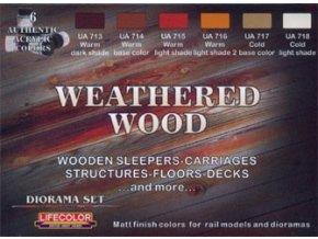 LifeColor CS20 dioxam színű készlet WEATHERED WOOD