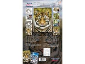 Airbrush sablon- tigris