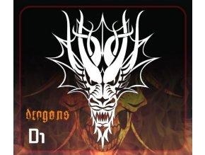 airbrush stencil dragons d1