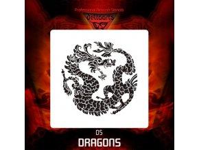 airbrush stencil dragons d5