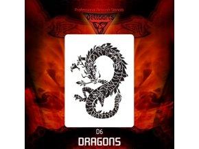 airbrush stencil dragons d6