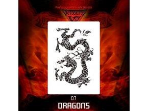 airbrush stencil dragons d7