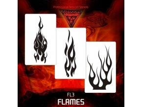 airbrush sablon lángok FL3
