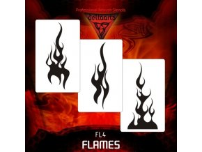 airbrush sablon lángok FL4
