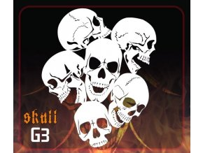 Airbrush sablon Group of skulls g3