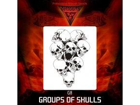 Airbrush sablon Group of skulls g8