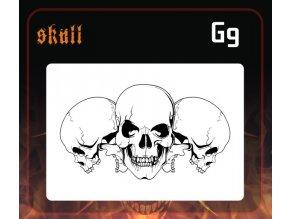 Airbrush sablon Group of skulls g9