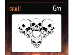 Airbrush sablon Group of skulls g11