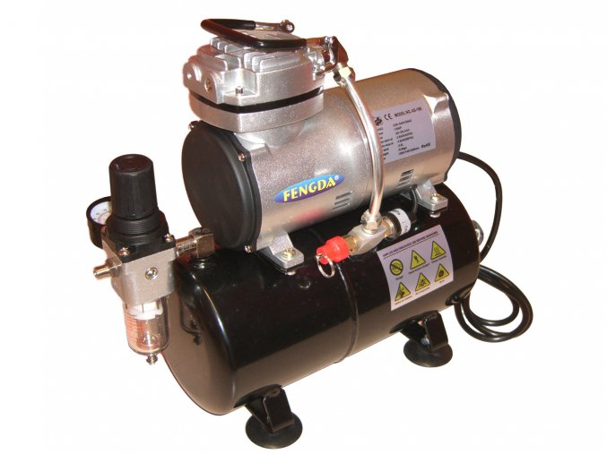 Mini airbrush kompresor s tlakovou nádobou Fengda AS-186