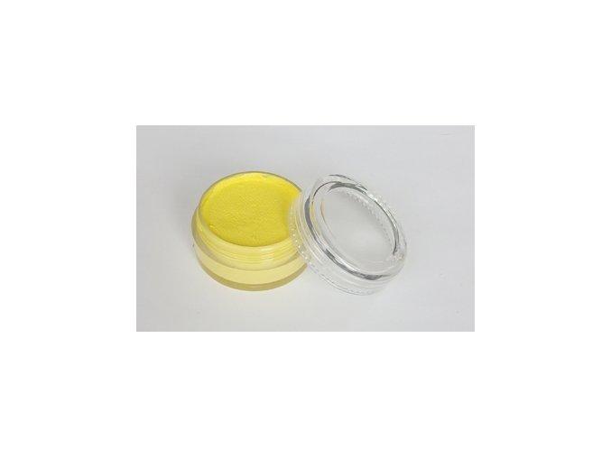 Farba pre maľovanie na telo a tvár Fengda body painting light yellow 10 g