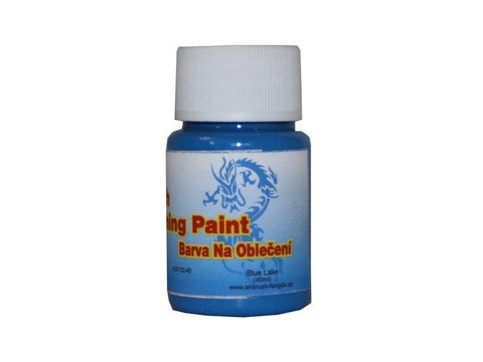 Airbrush farba na oblečenie Fengda blue lake 40 ml
