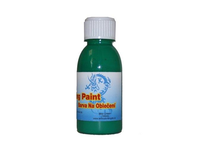 Airbrush Farba na oblečenie Fengda mid green 100 ml