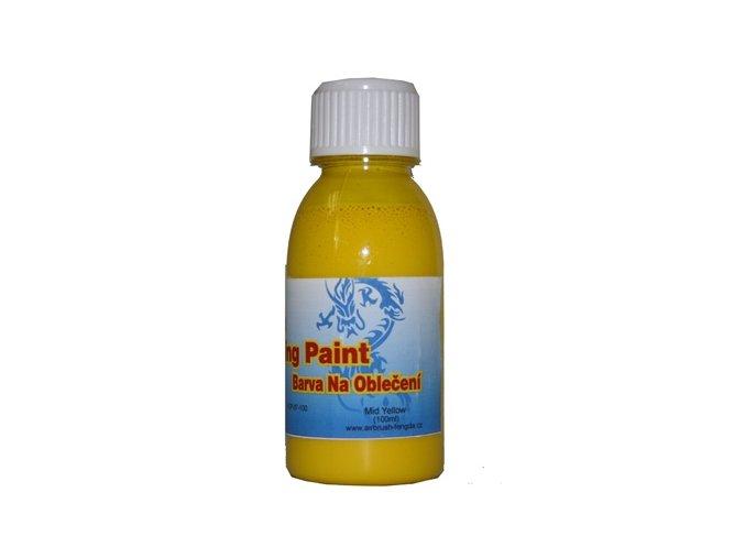 Airbrush farba na oblečenie Fengda mid yellow 100 ml