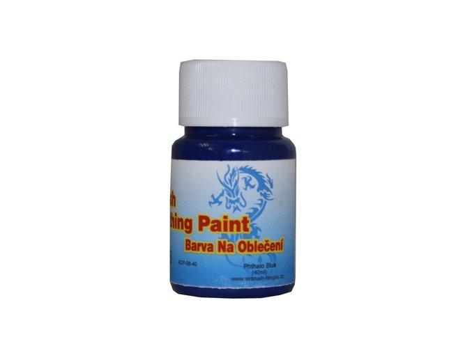 Airbrush farba na oblečenie Fengda phthalo blue 40 ml