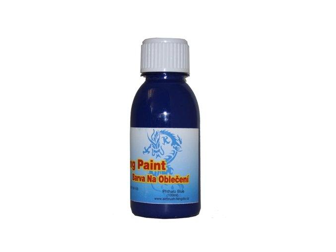 Airbrush farba na oblečenie Fengda phthalo blue 100 ml