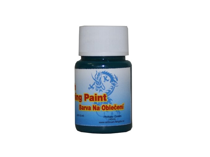 Airbrush farba na oblečenie Fengda phthalo green 40 ml