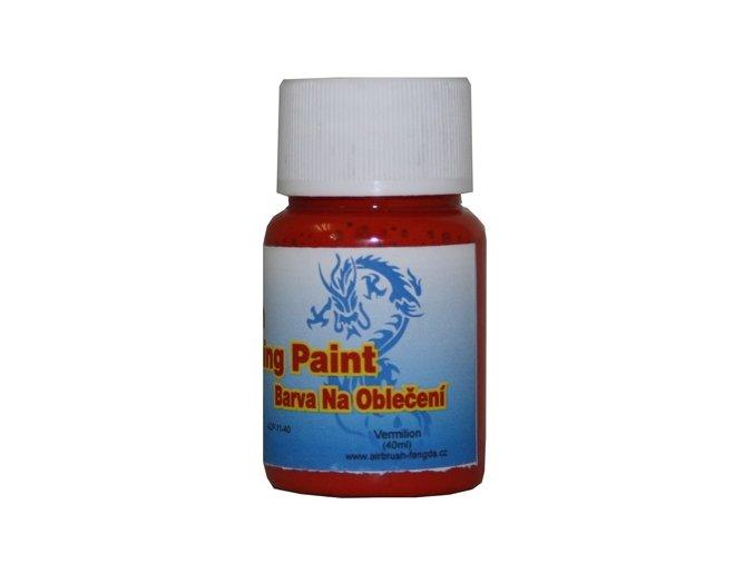 Airbrush farba na oblečenie Fengda vermilion 40 ml