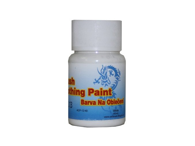 Airbrush farba na oblečenie Fengda white 40 ml