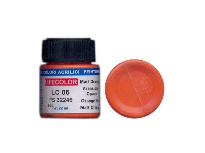 Farba LifeColor LC05 basic matt orange