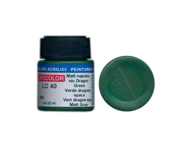 Farba LifeColor LC40 basic matt napoleonic dragon green