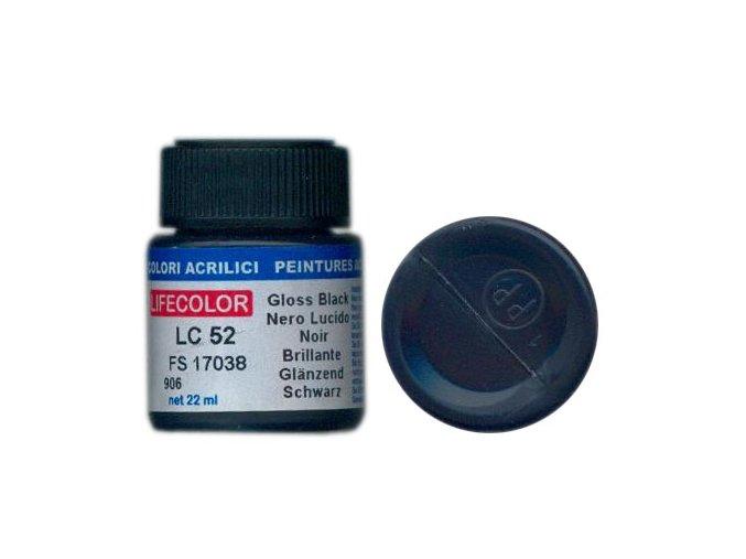 Farba LifeColor LC52 basic gloss black