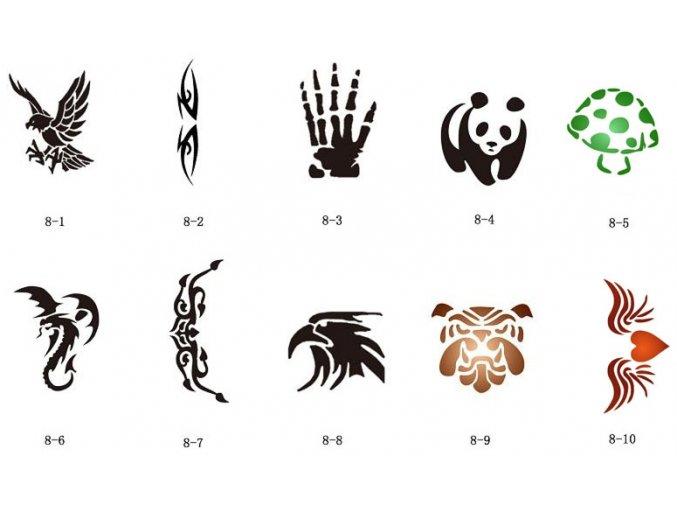 Sada šablón pre trblietavé tetovanie Fengda S08