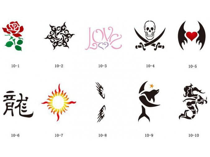 Sada šablón pre trblietavé tetovanie Fengda S10