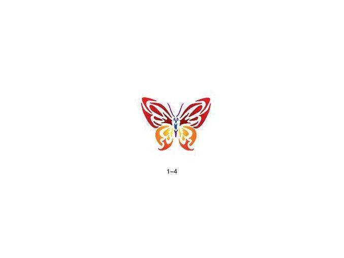 Šablóna pre trblietavé tetovanie Fengda 01-04