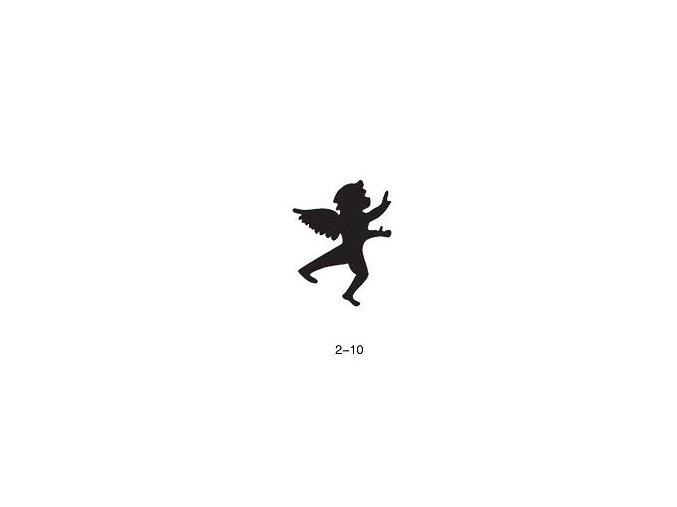 Šablóna pre trblietavé tetovanie Fengda 02-10