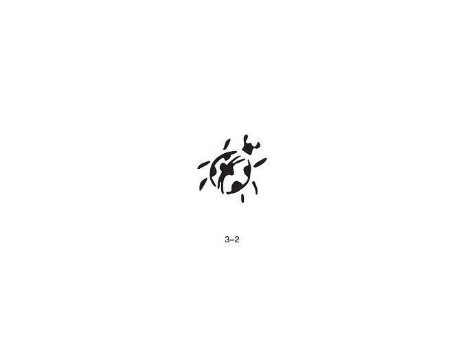 Šablóna pre trblietavé tetovanie Fengda 03-02
