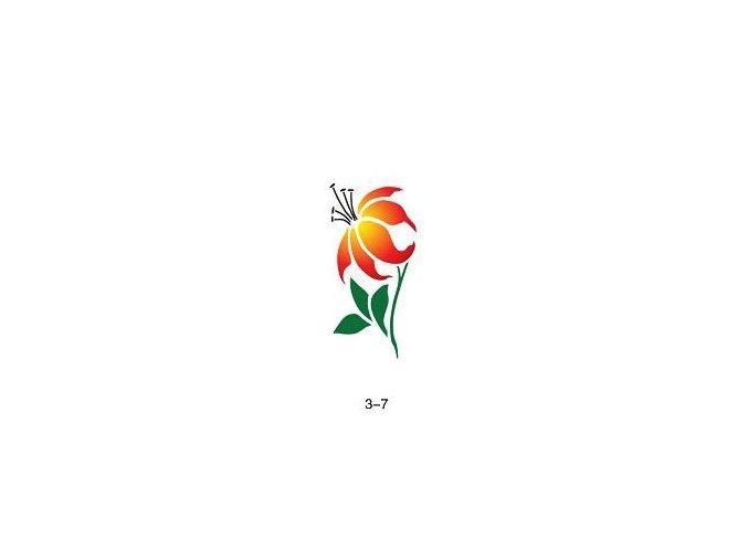 Šablóna pre trblietavé tetovanie Fengda 03-07