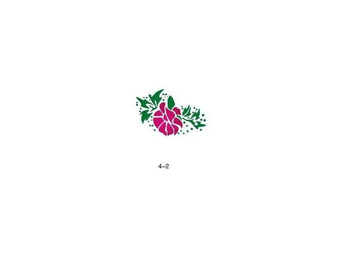 Šablóna pre trblietavé tetovanie Fengda 04-02