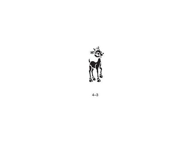 Šablóna pre trblietavé tetovanie Fengda 04-03