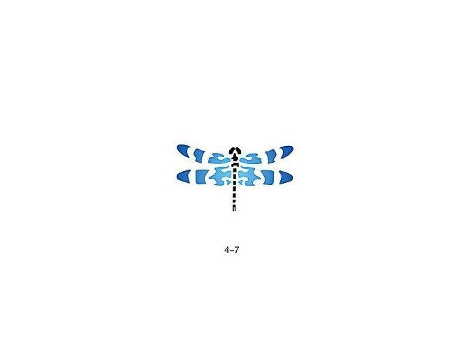 Šablóna pre trblietavé tetovanie Fengda 04-07