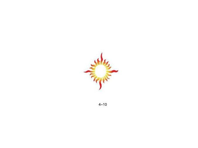 Šablóna pre trblietavé tetovanie Fengda 04-10
