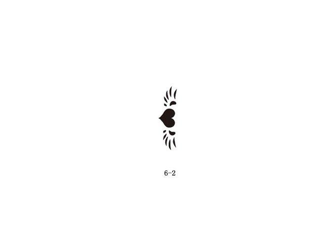 Šablóna pre trblietavé tetovanie Fengda 06-02
