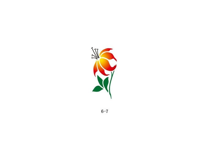 Šablóna pre trblietavé tetovanie Fengda 06-07