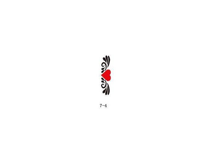 Šablóna pre trblietavé tetovanie Fengda 07-04