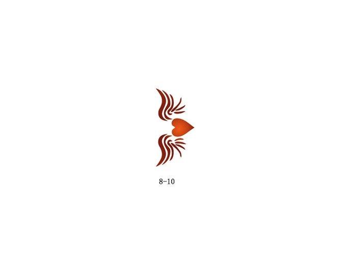 Šablóna pre trblietavé tetovanie Fengda 08-10