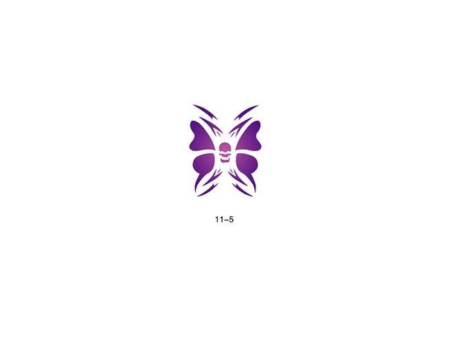 Šablóna pre trblietavé tetovanie Fengda  11-05