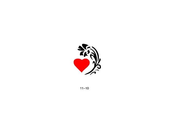 Šablóna pre trblietavé tetovanie Fengda 11-10