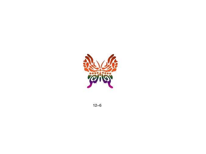Šablóna pre trblietavé tetovanie Fengda 12-06