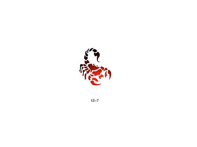 Šablóna pre trblietavé tetovanie Fengda  12-07