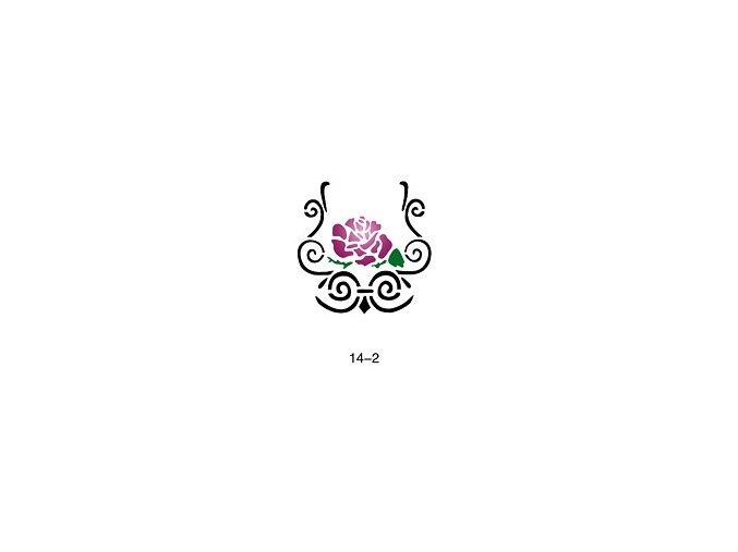 Šablóna pre trblietavé tetovanie Fengda 14-02