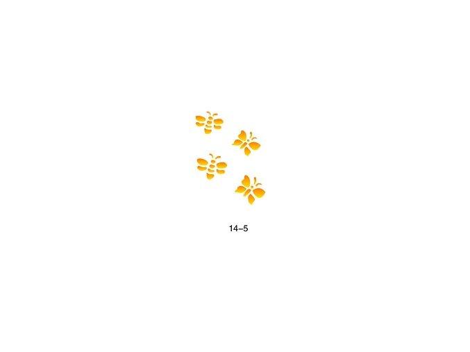 Šablóna pre trblietavé tetovanie Fengda 14-05