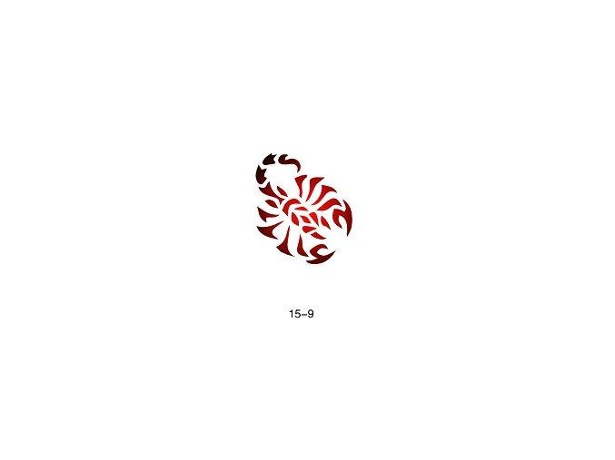 Šablóna pre trblietavé tetovanie Fengda  15-09
