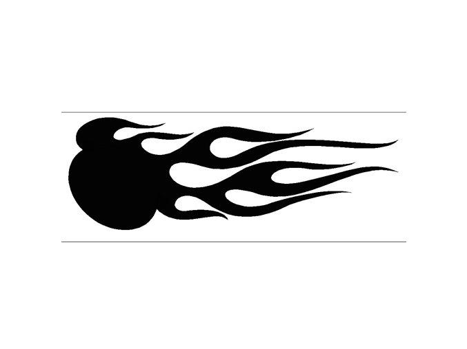 Airbrush šablóna plamene /flames C010